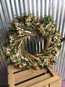Dried Merlin's Autumn Wreath $60