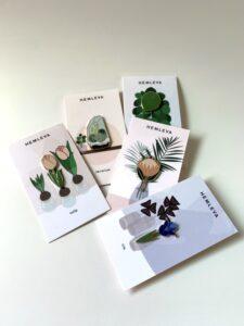Hemleva Botanical Enamel Pins $10 each